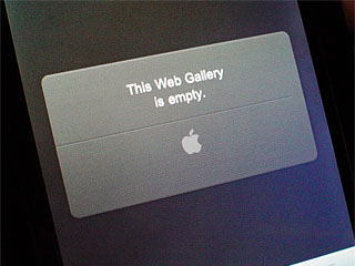iPod touchで「This Web Gallery is empty」