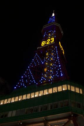 テレビ塔のイルミネーション