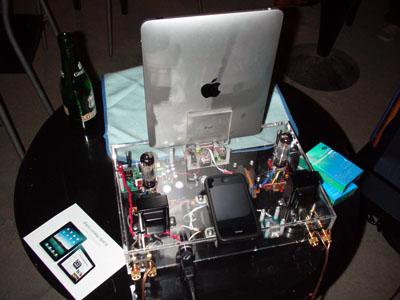 真空管アンプ w/iPad