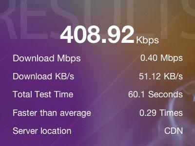 speedtest - b-mobileSIM