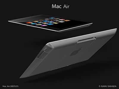 Mac Air Tablet Mockup From Isamu Sanada