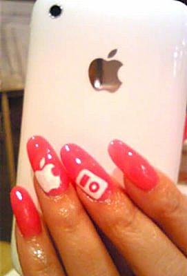 Nice Hand Job: Apple Nail Decals
