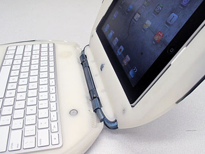 iBook Turned Into Working iPad Keyboard Dock