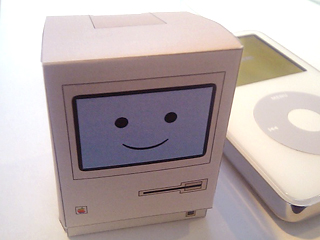 Beautiful Papercraft Mac and iPod