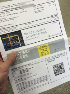 ユーロスターの電子チケット