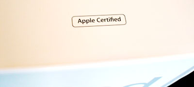 「Apple Certified」の文字