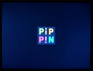 (電源を入れると、Pipinロゴのスタートアップスクリーン)