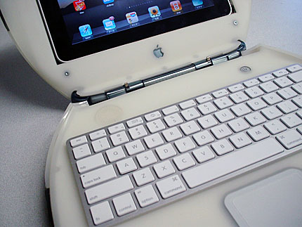 iPad in iBook w/Apple Keyboard