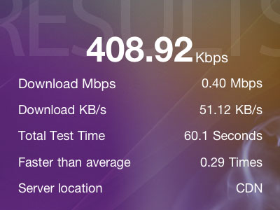 speedtest - b-mobileSIM
