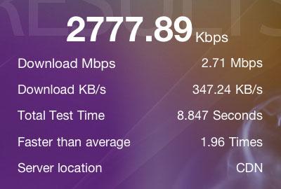 Speedtest - iPhone 4 SIM w/iPad
