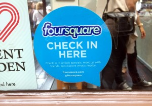 foursquareのステッカー (Covent Garden Market内)